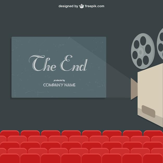 Projection d'un film de théâtre Vecteur gratuit