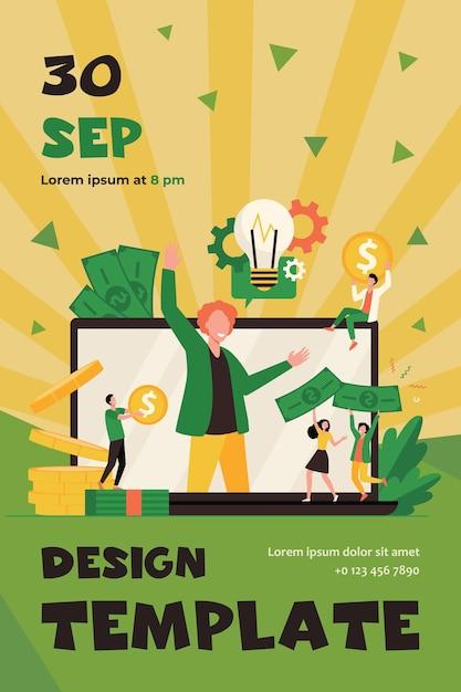 Projet De Démarrage Participatif De Petit Entrepreneur à Plat Vecteur gratuit