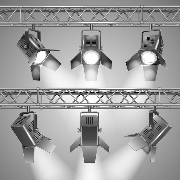 Projeter des projecteurs Vecteur gratuit