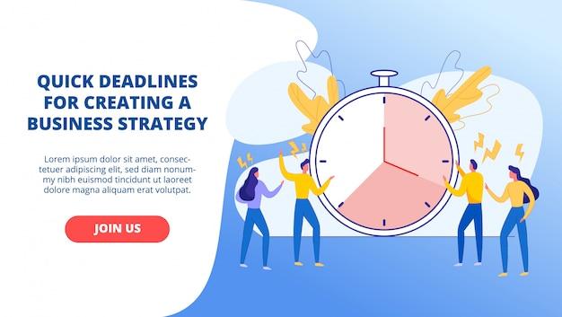 Projets marqués par le temps bannière animée pour le site Vecteur Premium