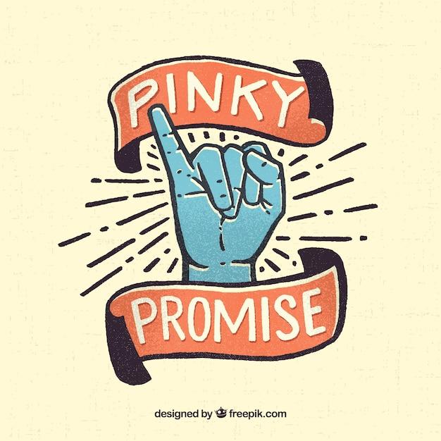 Promesse pinky dans un style dessiné à la main Vecteur gratuit