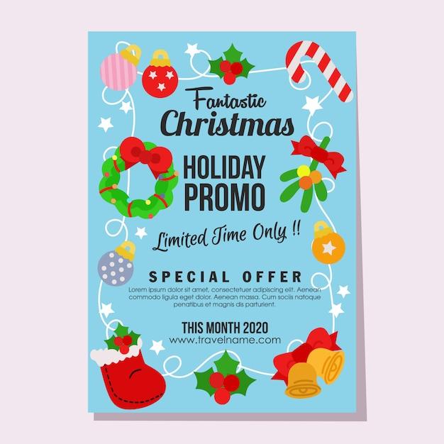 Promo élément Plat Affiche Bonhomme De Neige Noël Vente Fantastique Vente Vecteur Premium