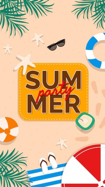 Promotion d'été tropical Vecteur gratuit