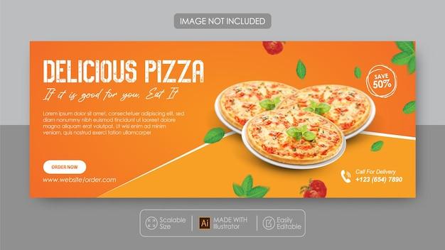 Promotion Des Médias Sociaux De La Pizza Et Modèle De Conception Instagram Vecteur Premium