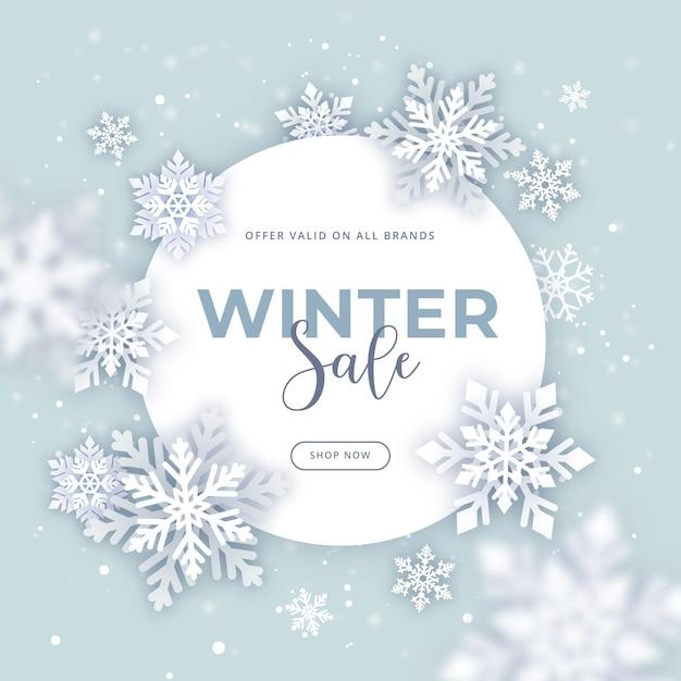 Promotion Des Soldes D'hiver Plat Vecteur gratuit