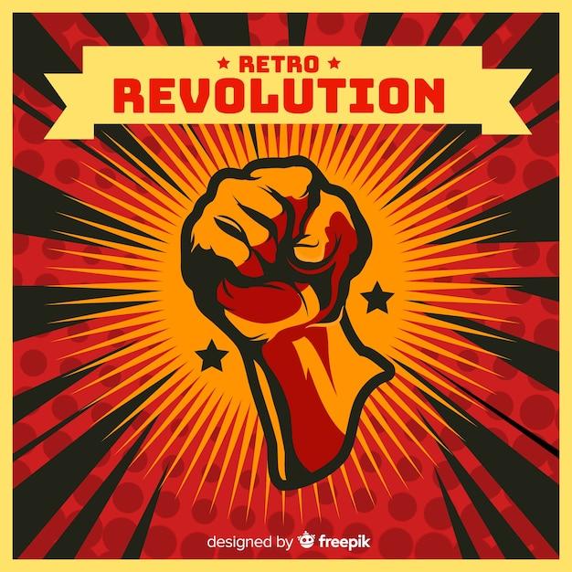 Propagande de la révolution rétro Vecteur gratuit