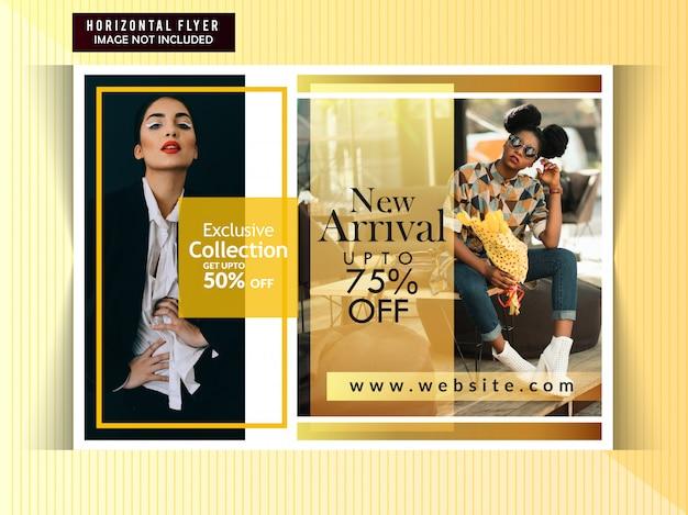 Prospectus horizontal de vente de mode Vecteur Premium
