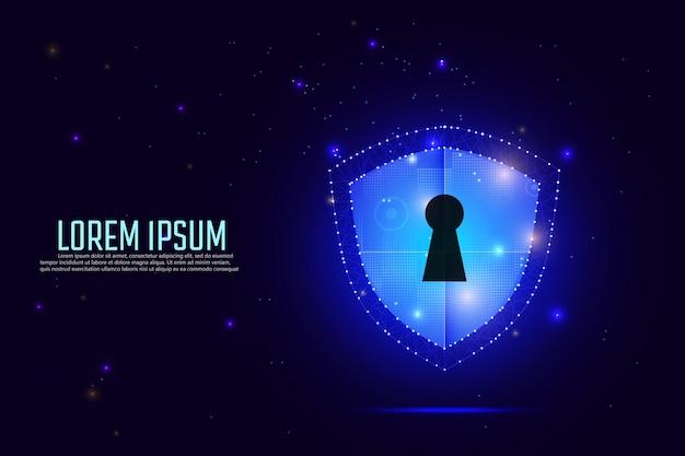 Protection des données et sécurité du réseau Vecteur Premium