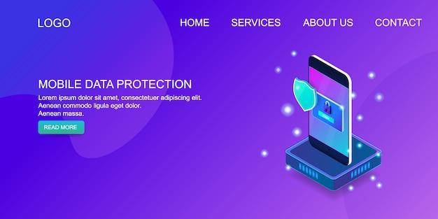 Protection des données Vecteur Premium