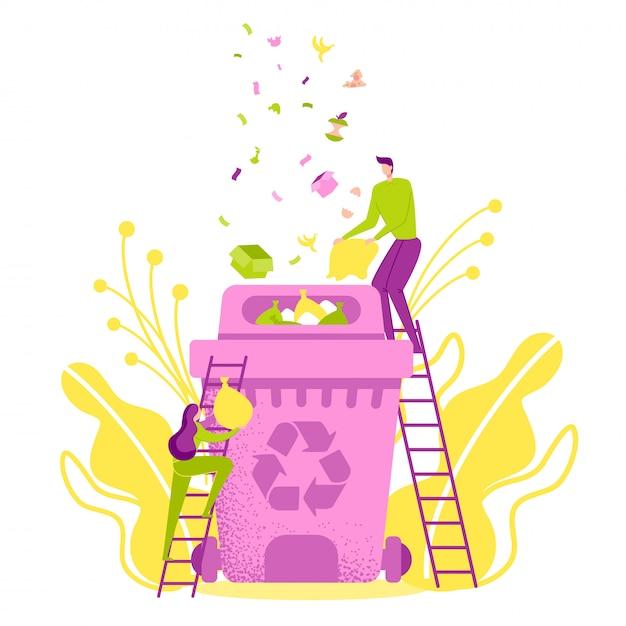 Protection de l'environnement, recycler, réutiliser, réduire. Vecteur Premium