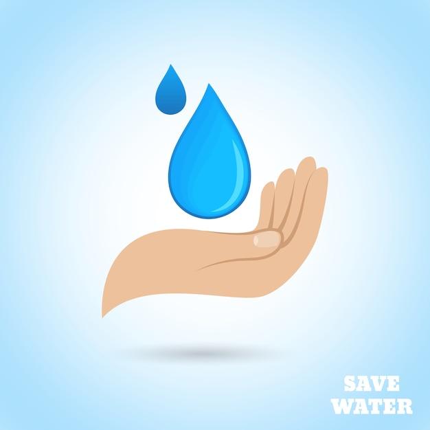 Protège l'eau des mains Vecteur gratuit