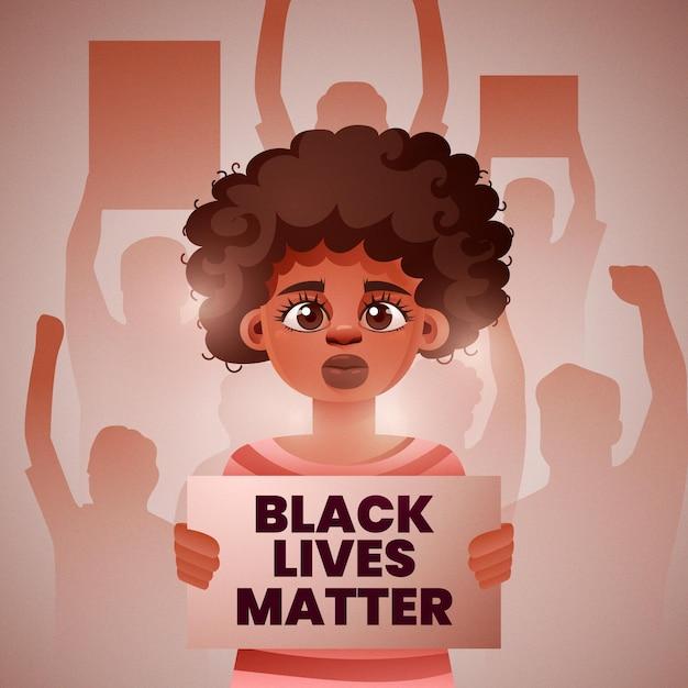 Protester Contre Le Racisme Vecteur gratuit