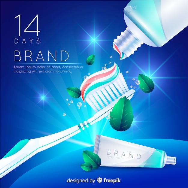 Publicité de dentifrice Vecteur gratuit