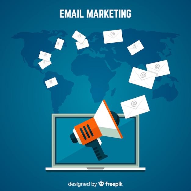 Publicité par e-mail Vecteur gratuit