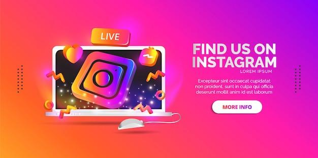 Publiez Des Designs De Réseaux Sociaux Pour Partager Vos Liens Instagram Vecteur Premium