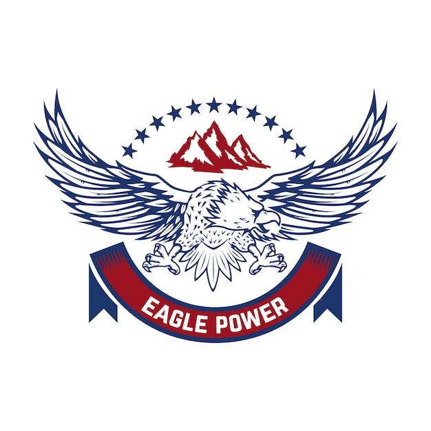 Puissance D'aigle. Emblème Avec Condor. élément Pour Logo, étiquette, Signe. Image Vecteur Premium