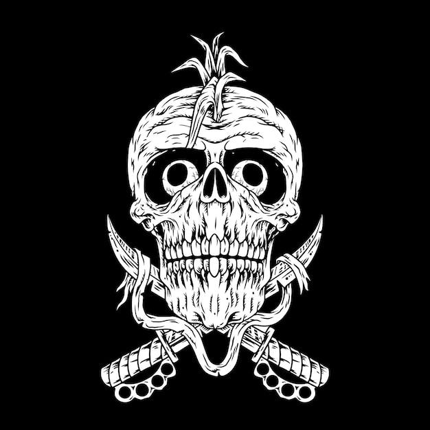 Punk pirate, punk hardcore Vecteur Premium