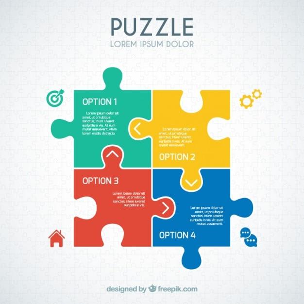 Puzzle infographie Vecteur gratuit