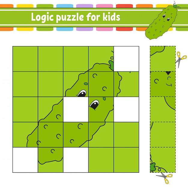 Puzzle logique pour les enfants. Vecteur Premium
