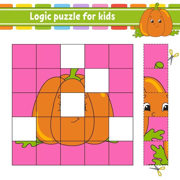 Puzzle logique Vecteur Premium