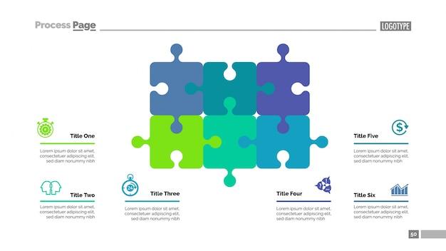 Puzzle Schéma Avec Modèle De Six éléments Vecteur gratuit