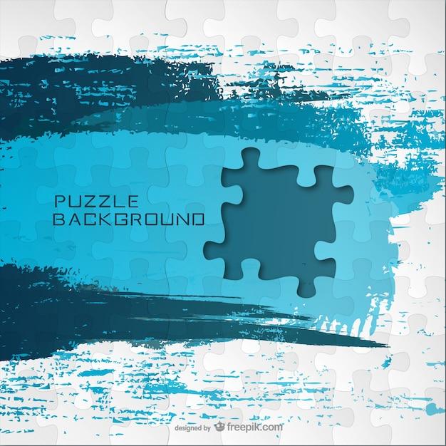 Puzzle vecteur de peinture bleue Vecteur gratuit