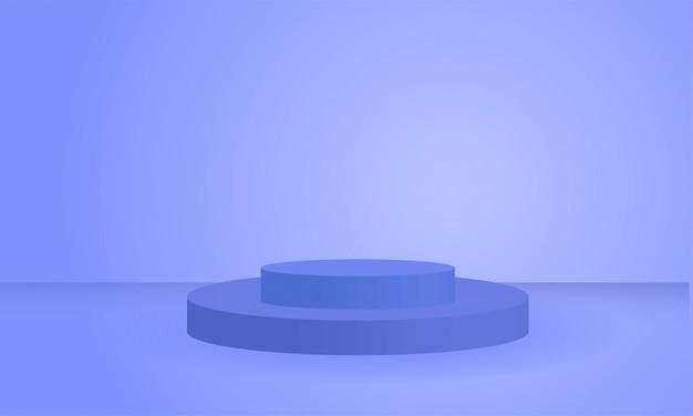 Pylône D'affichage De Produit De Formes Géométriques Bleues 3d Vecteur Premium