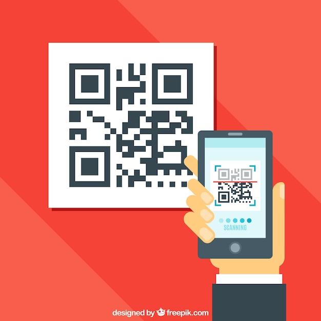 Qr Scène Code Scanner Vecteur gratuit