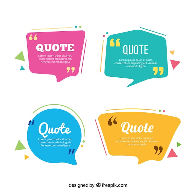 Quatre Ballons De Dialogue Colorés Vecteur gratuit