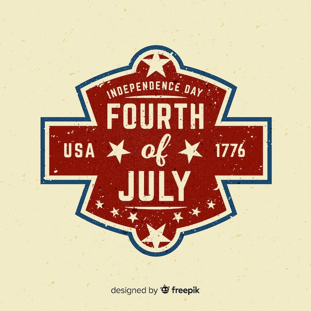 Le quatre juillet Vecteur gratuit