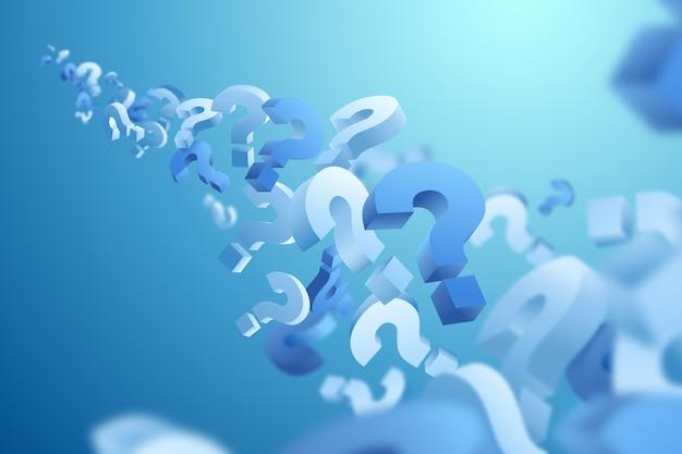 Question 3d Effet De Fond Vecteur gratuit