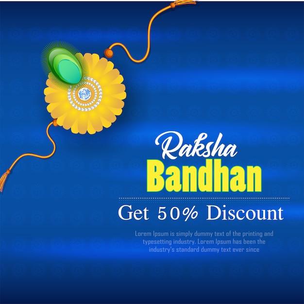 Rabais sur la bannière raksha bandhan Vecteur Premium