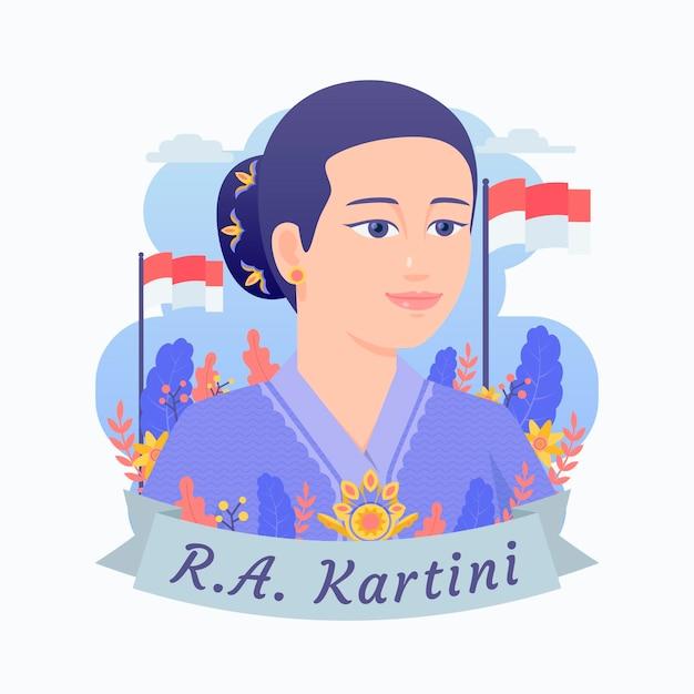 Raden Ajeng Kartini Illustration Vecteur gratuit