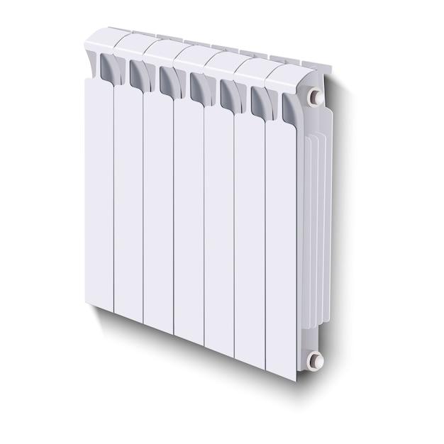 Radiateur De Chauffage, Sur Fond Blanc. Vecteur Premium