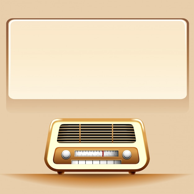 Radio avec espace de copie Vecteur gratuit