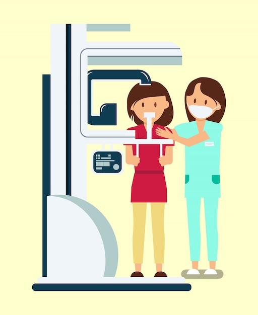 Radiologie dentaire Vecteur Premium