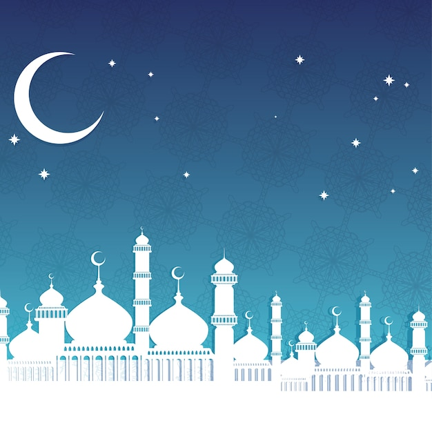 Ramadan backround Vecteur Premium