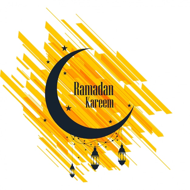 Ramadan kareem carte de voeux beau fond Vecteur gratuit