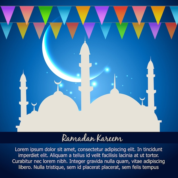 Ramadan Kareem Celebration Vector Background Vecteur gratuit