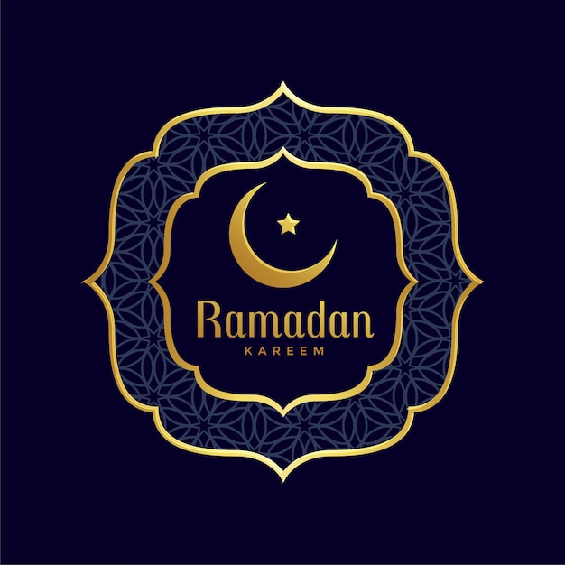Ramadan kareem islamique fond d'or Vecteur gratuit