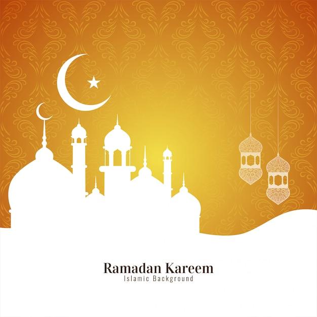 Ramadan Kareem Islmaic Festival Background Vecteur gratuit