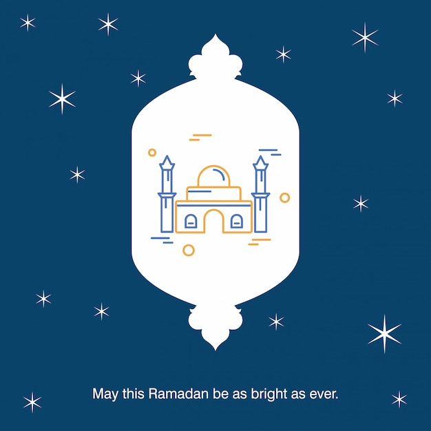 Ramadan kareem vector fond de carte de voeux Vecteur gratuit