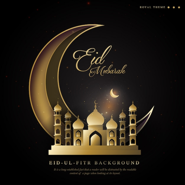 Ramadan royal | eid ul fitr contexte Vecteur Premium