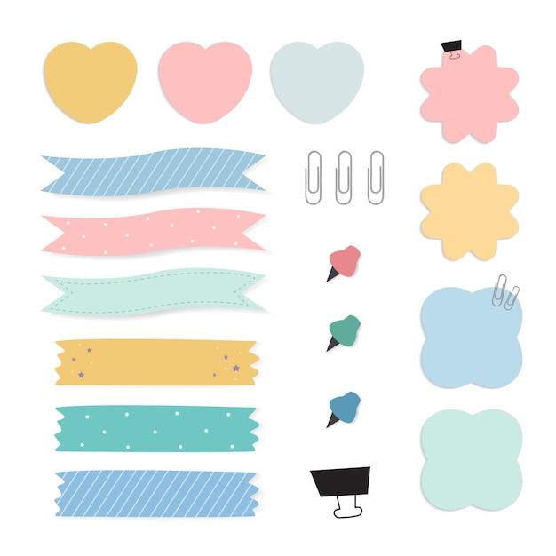 Rappel De Papier Coloré Notes Vectorielles Ensemble Vecteur gratuit