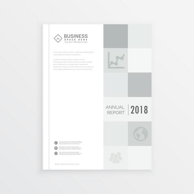 rapport annuel d 39 affaires de conception de couverture de magazine en format a4 avec des carr s. Black Bedroom Furniture Sets. Home Design Ideas