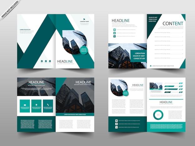 Rapport annuel vert modèle de conception de brochure Vecteur Premium