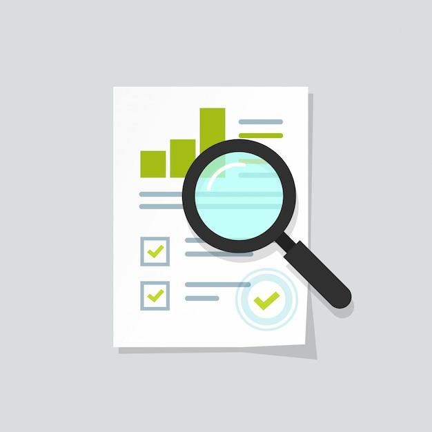 Rapport de croissance des ventes ou recherche de données d'analyse analytique Vecteur Premium