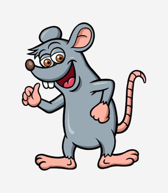 Rat ou souris illustration de personnage dessin animé