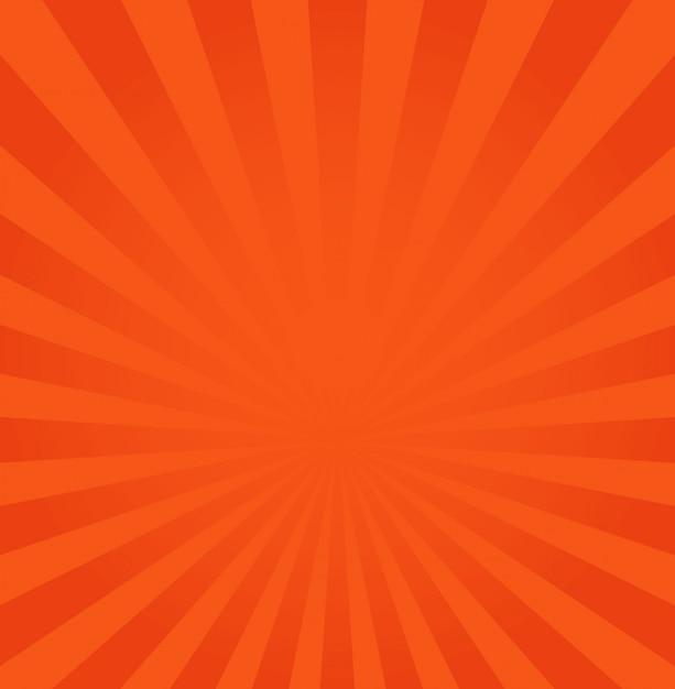 Rayons orange ou rouge à partir du fond du centre Vecteur Premium