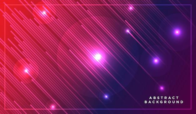 Rayures diagonales lignes tombant avec ombre et illustration de lumière rougeoyante Vecteur Premium